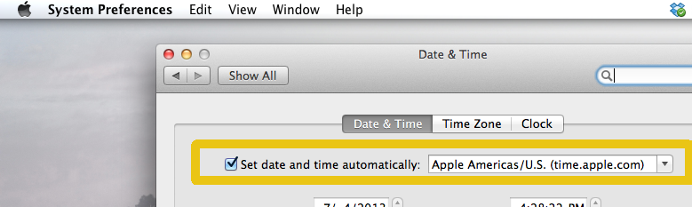 Date & Time Preference Panel