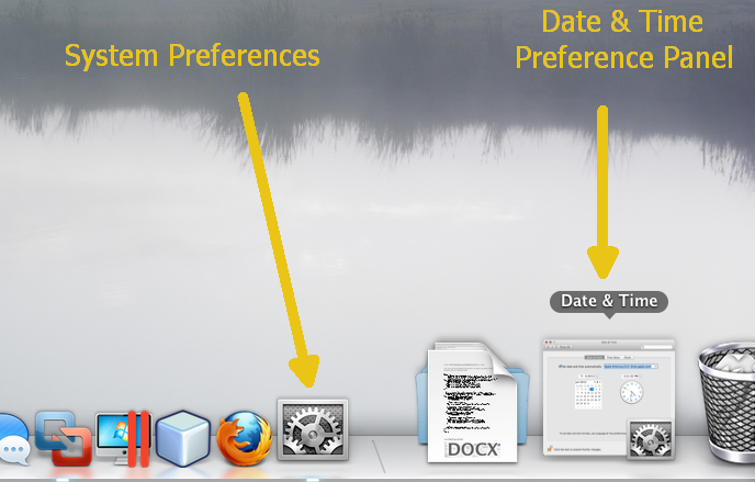 Screenshot 1: Minimized Date & Time Preference Panel