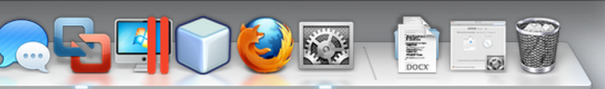 My MacBook's Dock -- Enlarged and Cropped