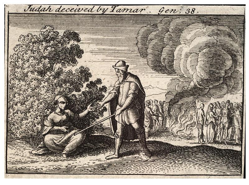 800px-Wenceslas_Hollar_-_Judah_and_Tamar_(State_2)
