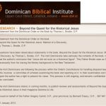Making of a Mythicist, Act 3, Scene 4 (The Dominican Biblical Institute, and its Research)
