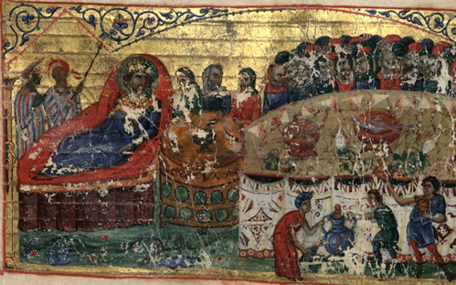 Ptolemy giving a banquet for the 72 translators © by Biblioteca Apostolica Vaticana