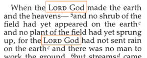"""Lord God"" in Genesis 2:4b-5 (NIV)"