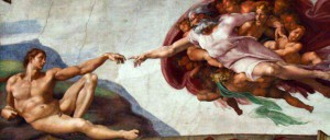 hand-of-God-giving-life-to-Adam-Mich