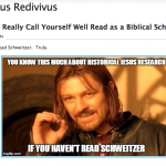 Inviting Jim West to read Schweitzer