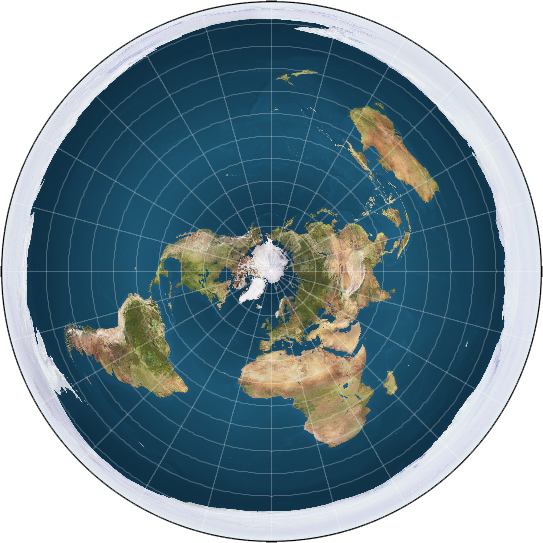 Flat earth. (From Wikipedia: Public domain)