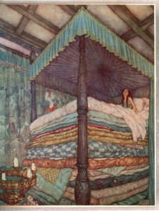 """Edmund Dulac - Princess and pea"" - Via Wikipedia"