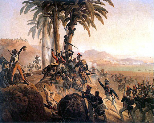 Battle at San Domingo, a painting by January Suchodolski