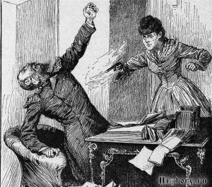 Vera Zasulich (1849-1919), a leading nihilist, shoots and wounds police chief Trepov in retaliation for his brutality : she is tried but acquitted by a sympathetic court.1878