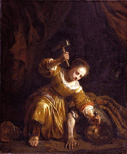 Jael and Sisera by Jan de Bray, 1659