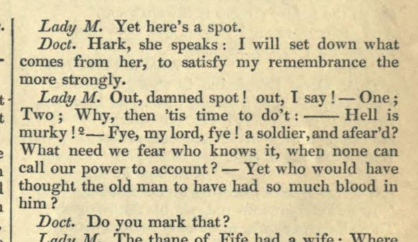 Macbeth, Act V, Scene 1