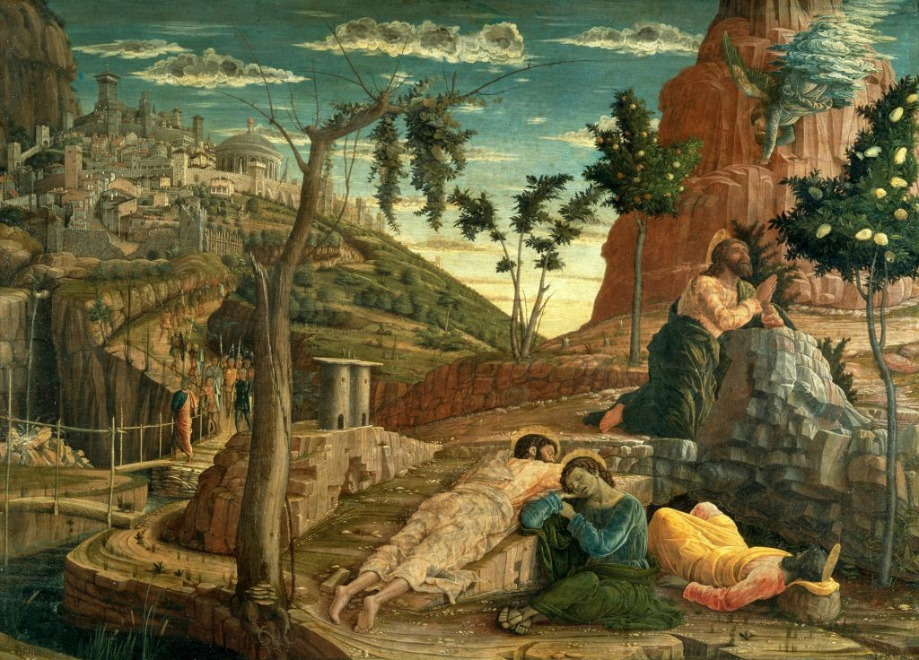 Christ on the Mount of Olives: Andrea Mantegna, 1459