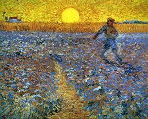 Van Gogh: Sower, 1888