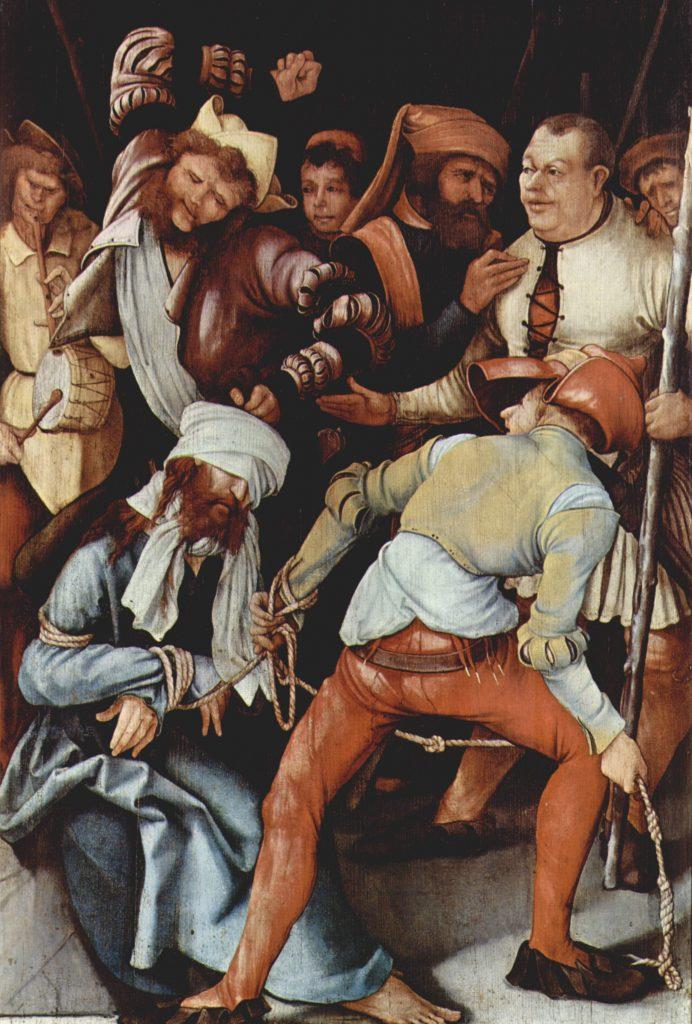 Mathis Gothart Grünewald: Jesus Blindfolded