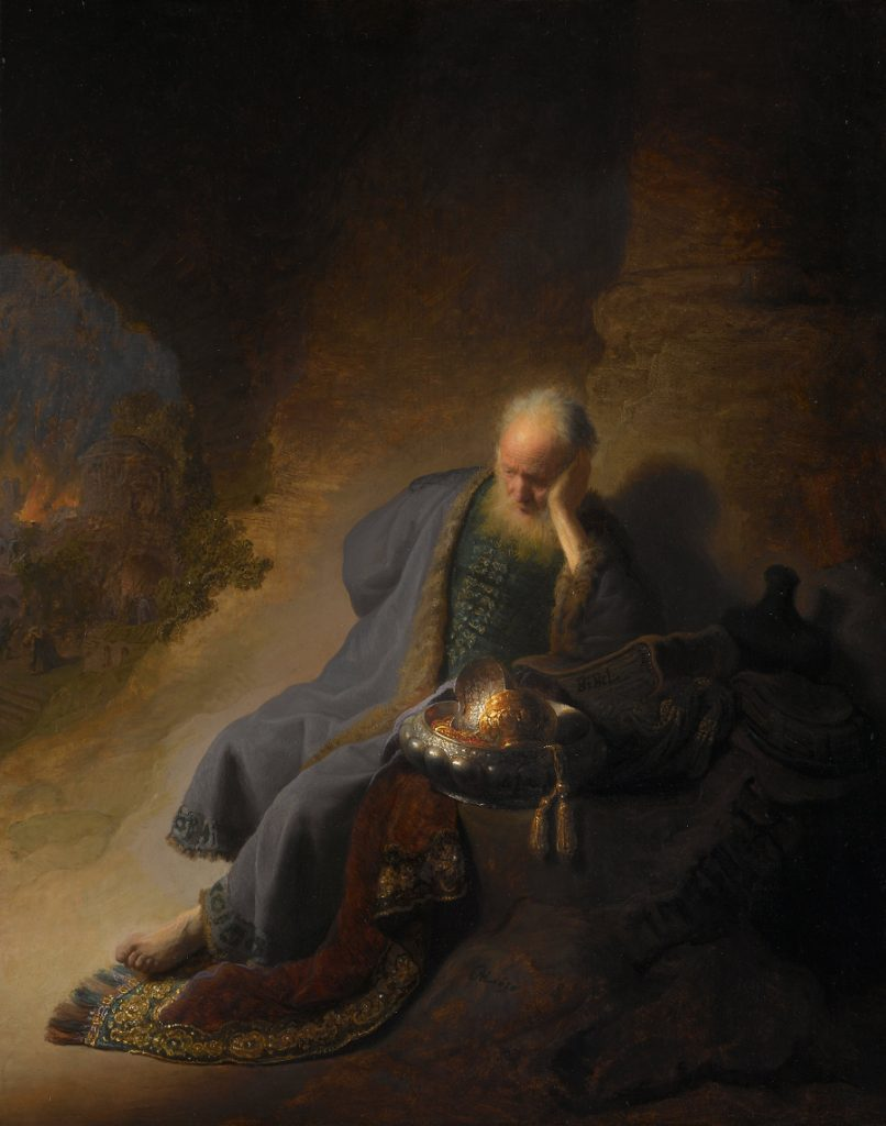 Rembrandt: Jeremiah Laments the Destruction of Jerusalem