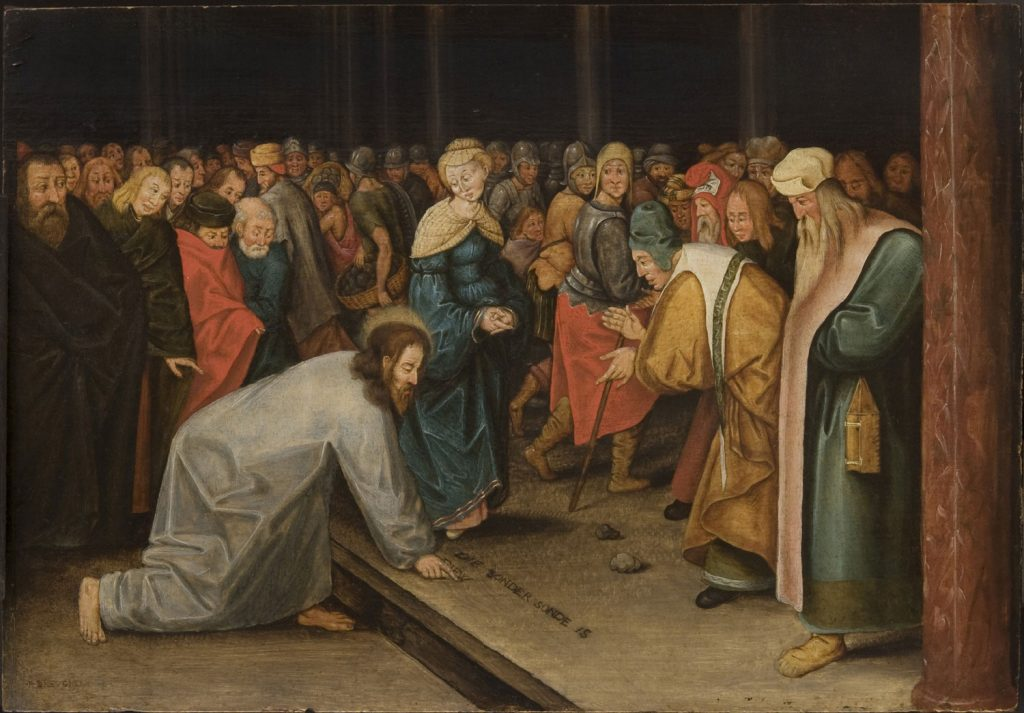 brueghel_ii_pieter_-_christ_and_the_woman_taken_in_adultery_1600