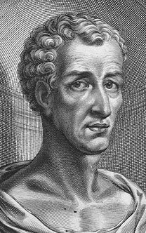 Lucianus (fictional portrait). Engraving of th...