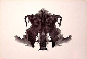 the fourth blot of the Rorschach inkblot test
