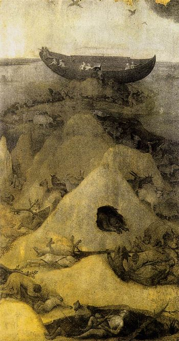 Hieronymus Bosch - Noah's Ark on Mount Ararat ...