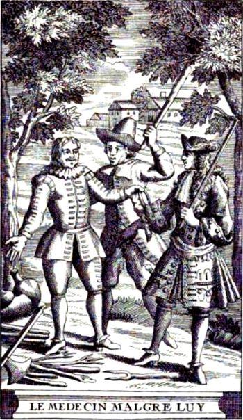Front page of Le Médecin malgré lui (1666) by ...