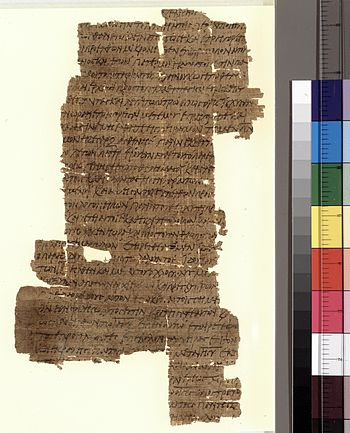 The reverse side of Papyrus 37, a New Testamen...