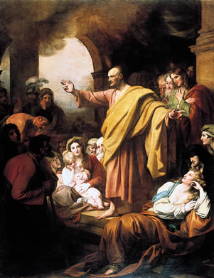 St. Peter Preaching at Pentecost by Benjamin West