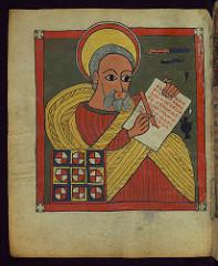 Illuminated Manuscript, Ethiopian Gospels, Eva...