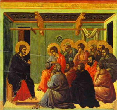 Jesus with the Twelve(Duccio di Buoninsegna)